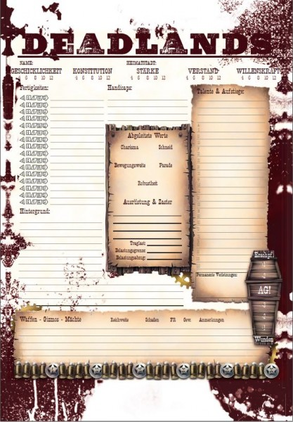 Deadlands Reloaded - Spielerhandbuch (HC)