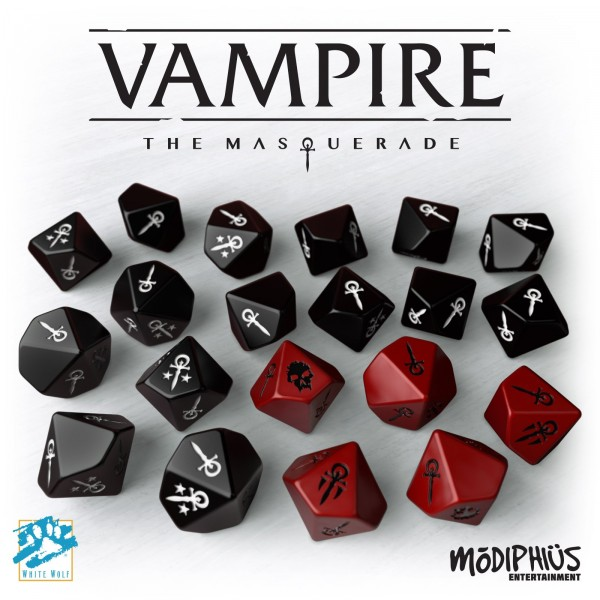 V5 Vampire - the Masquerade: Dice Set (20 Stück)