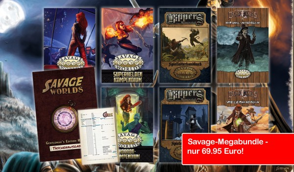 Savage Worlds - Megabundle - Alle Regeln, Alle Settings